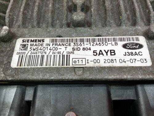 ECU del motor Ford 1.4 SID804 3S61-12A650-LB 5WS40140D-T 3S6112A650LB 5WS40140DT