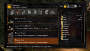 Dark Souls Remastered 2018 Ps4 All In Game Titanite Shard Chunk Slab Upgrade X99 Ebay With the discovery of chunks in lordran. details about dark souls remastered 2018 ps4 all in game titanite shard chunk slab upgrade x99