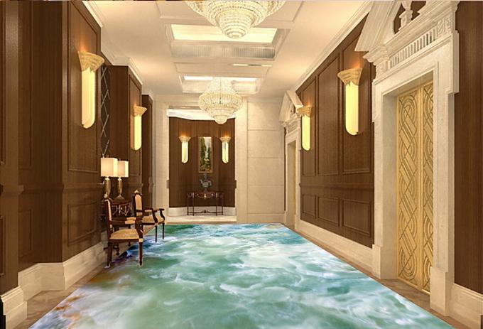 3D Hazy Sea Stone 734 Floor WallPaper Murals Wall Print Decal AJ WALLPAPER US