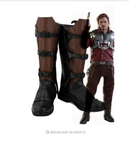 Guardians of The Galaxy Star Lord Peter Quill Cosplay Boots Shoes Halloween  FF