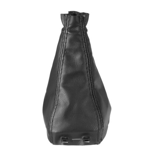 NEW PU Leather Black Gear Stick Shift Knob Gaiter Boot Cover For SAAB 9-3 2003