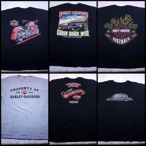 Harley-Davidson-Men-039-s-Regular-T-shirts-lot-de-6-14-Taille-L-ventes-individuelles