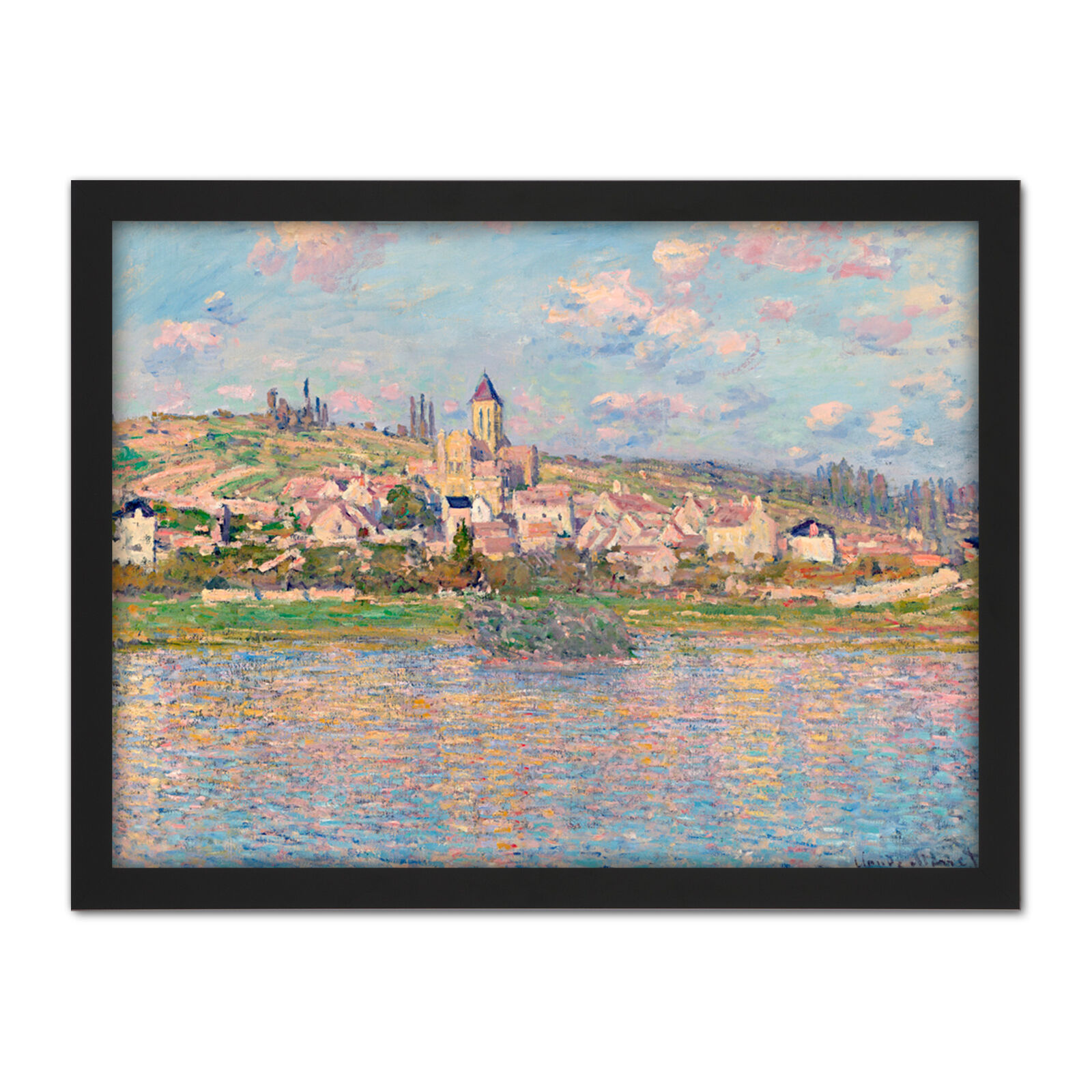 Claude Monet Vetheuil Large Framed Art Print