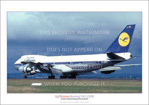 LUFTHANSA-BOEING-747-230B-SYDNEY-A3-POSTER-PRINT-PHOTO-PICTURE-IMAGE-x