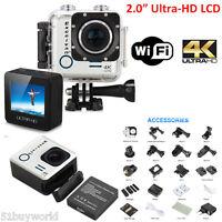 4k 16mp Vidéo Ultrahd 2.0 Wifi Sports Caméra 170° Action Dv Cam Hdr 30m Etanche