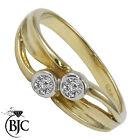 BJC 9 Ct Or jaune diamant 0.20ct CT Robe Taille M fiançailles Robe Bague R71