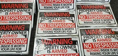 Details about  /Warning The Owner Of This Property Is Armed There Is Nothing Aluminum Metal Sign