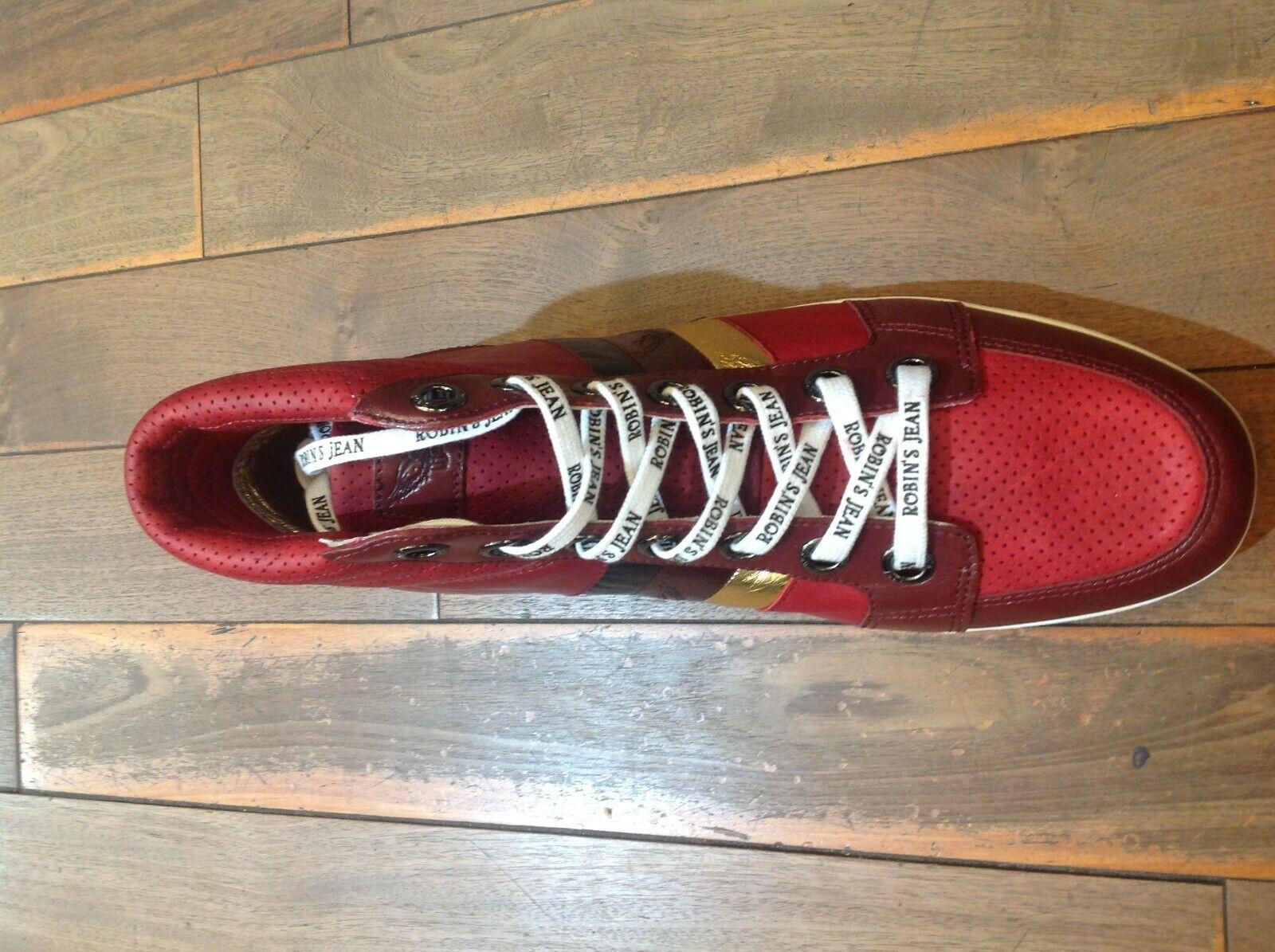 Robin's Jean Danton Borgoña Zapatillas De Cuero de nosotros tamaño 13