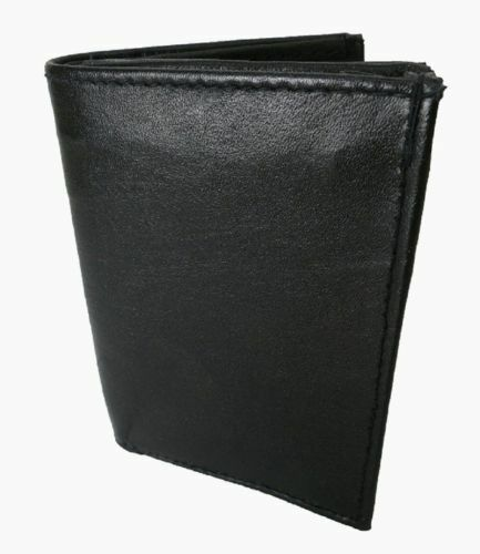 Men/'s Genuine Leather Bifold Wallet Thin ID Credit Card Bill Case Front Pocket