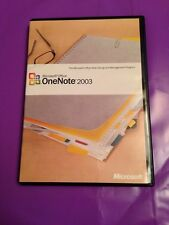 MICROSOFT OFFICE ONE NOTE 2003 WINDOWS GENUINE RETAIL  VERSION WITH PRODUCT KEY