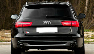 Details About For Audi A6 C7 4g Avant 2011 2018 S Line S6 Rs6 Look Spoiler Tailgate Cover