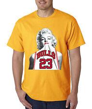 New Way 193 - Unisex T-Shirt Marilyn Monroe BULLS 23 Jersey Jordan