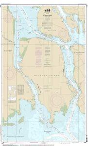NOAA Chart St Mary's River - Neebish Island 1st Edition 14887