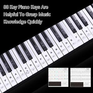 54-61-88-Touches-Clavier-Electronique-Clavier-Nom-Du-Son-Autocollants-FE