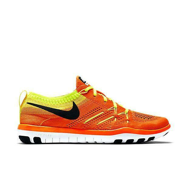 Womens NIKE FREE TR FOCUS FLYKNIT Total orange Trainers 844817 800