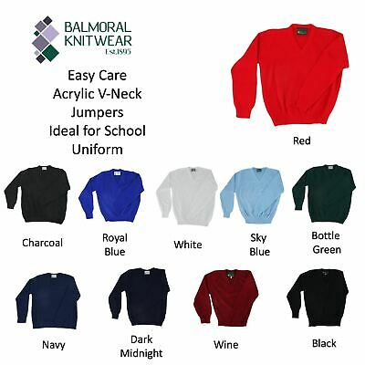 REAL LIFE FASHION LTD Childrens Kids Pull Over School Unifrom Winter Jumper Full Sleeve V Neck Sweater