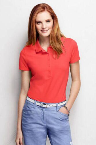 Lands/' End PL 14P//16P - NIP Coral Orange S//S Cotton Pique Knit Polo Shirt