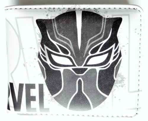 Black Panther Hero Bifold Wallet purse id window 2 card slot zip coin Cartoon
