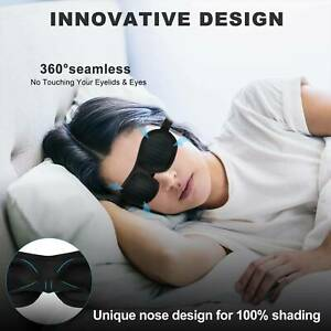 Pro-3D-Soft-Blindfold-Blackout-Eye-Mask-Flight-Travel-Sleep-Aid-Shade-Cover-Rest