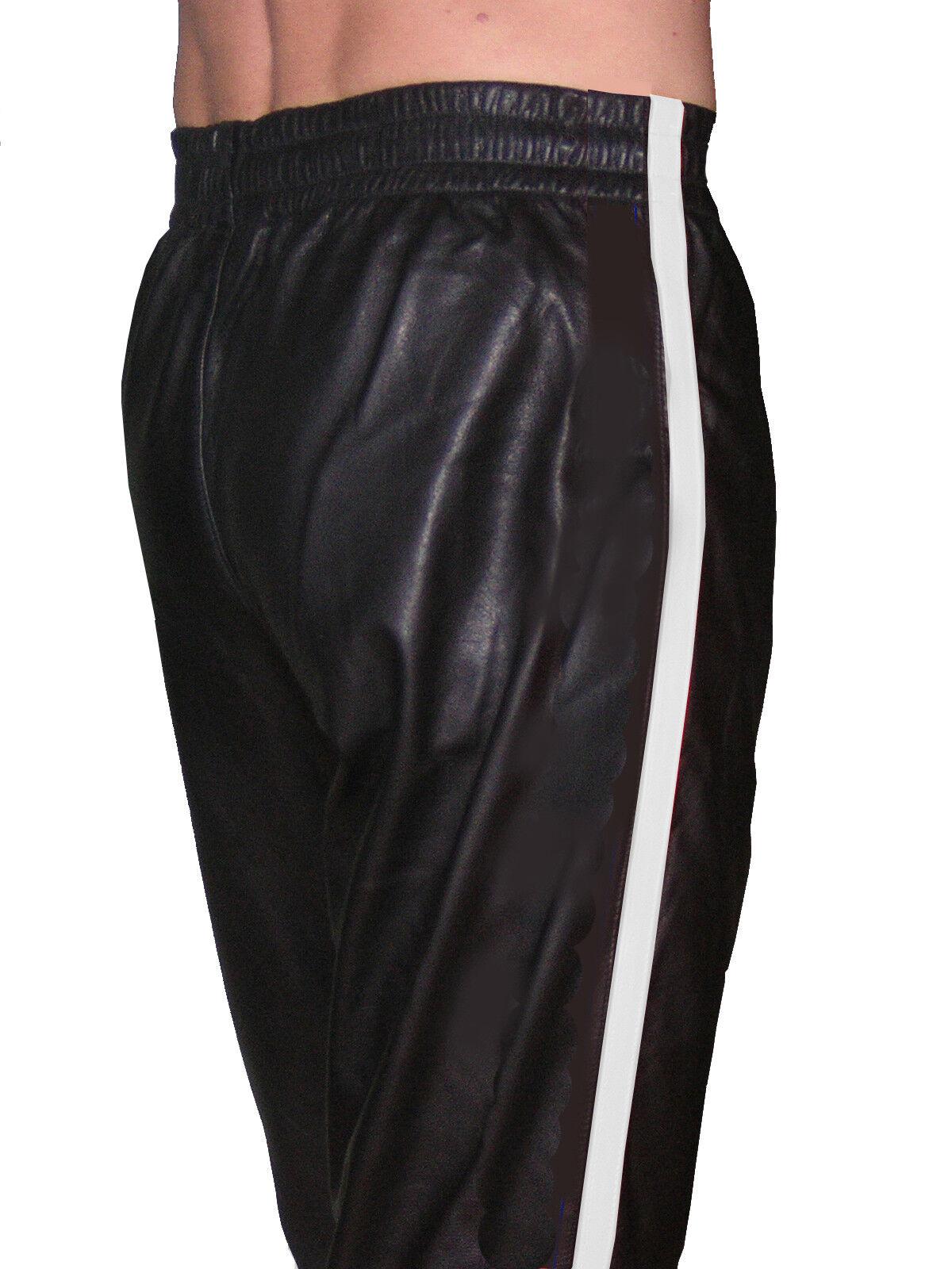 Sporthose schwarz weiß Lederhose Jogginghose neu casual sport sport sport leather pants | Kaufen Sie online  | 2019  852e87