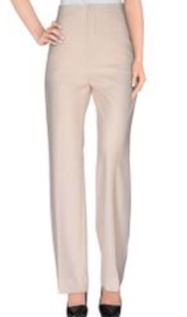 BOUCHRA JARRAR Cream Flat Front Trousers Pants 6