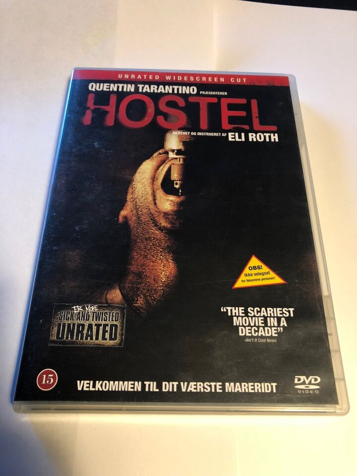 Hostel 1&2, instruktør Eli Roth, DVD