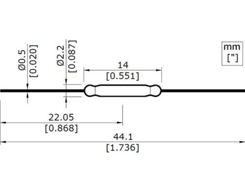 2 x Ampoule ILS 1T 500mA 100V   2x14mm                                    RLILS1
