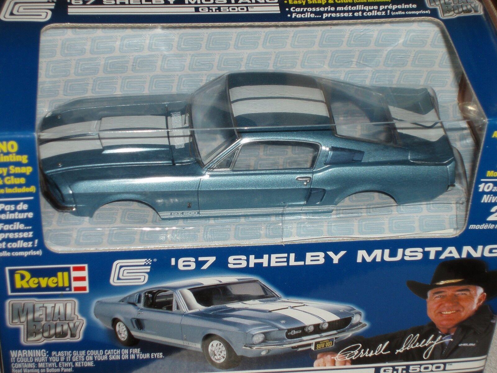 REVELL 1967 Ford Shelby Mustang GT500 Vintage bleu Model Kit 1 25