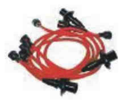 red Vw Beetle HT lead set buggy