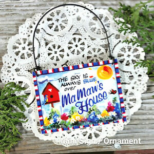 DecoWords-Mini-Wood-Sign-MAMAW-039-S-House-MA-MAW-Gift-Ornament-Relatives-names-USA