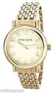 Anne-Klein-Women-Gold-tone-Stainless-Steel-Quartz-Watch-AK-1588CHGB