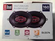 "Dual Electronics DLS574 6""x8"" 4-Way Speakers 160 Watts"