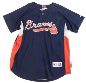 huge discount 85fa3 5b2f1 Details about Vintage Majestic Mark Teixeira # 24 Atlanta Braves Jersey  Youth Boys 10-12 Blue