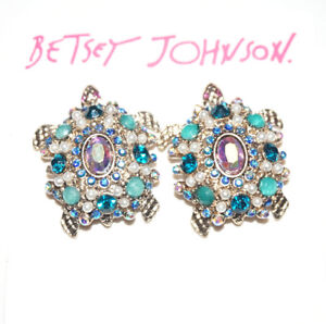 fb495d30d80f9 Details about Betsey Johnson Nautical Sea Turtle Stud Earrings