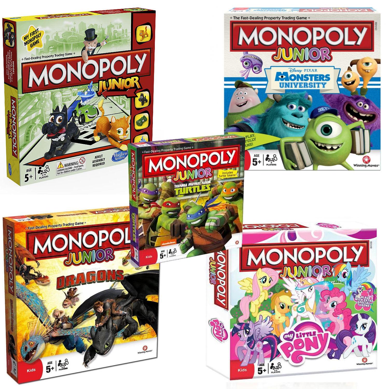 Monopoli Junior Brettspiel/Spiele für Kinder/ Kinder/ Neu und Versiegelt