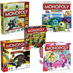 Details About Monopoly Junior Board Game Games For Kids Children New And Sealed
