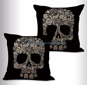 Sugar Skull Blanket Dia de Los Muertos Blanket Skull Azucar Black Blue
