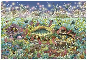 Ravensburger 1000 piece jigsaw puzzle UNDERWATER KINGDOM AT DUSK treasure fish