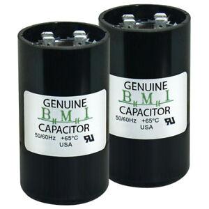 2 PACK 124-156 MFD uf 110-125 VAC Round Electric Motor Start Capacitor • USA