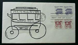 [SJ] USA Classic Omnibus 1983 Transport Vehicle Car (stamp FDC)
