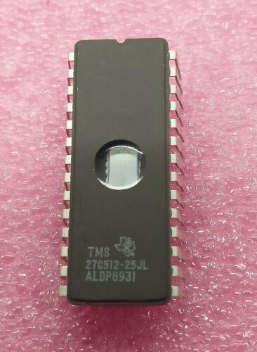 1 PC TMS27C512-25JL 32K x 8 bit EPROM Texas Instruments