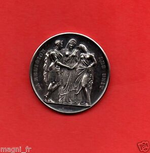 Jeton de mariage argent - Alexis Joseph DEPAULIS - La religion les unit - 1864