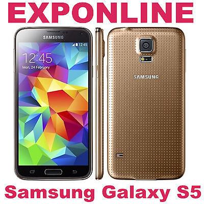 Samsung Galaxy S5 G900F (Latest Model) 16GB Copper Gold (Unlocked) Smartphone