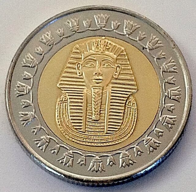 Egyptian One Pound Coin (100 Piasters) 2007- 25mm/ One in.