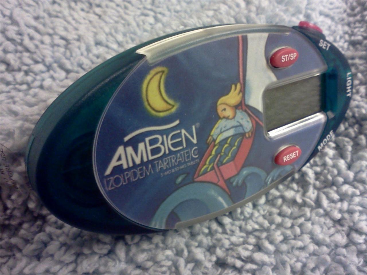 Ambien Drug Rep Nurse Stethoscope Clip-on Pulse Timer Stop Watch Chrono Alarm 1