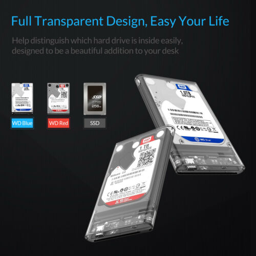 ORICO Type-C USB 3.1 to SATA 3.0 External Hard Drive Enclosure for 2.5/'/' HDD