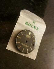 Genuine Rolex DateJust Black Dial Pie Pan Non Quickset 1601 36MM REFINISHED