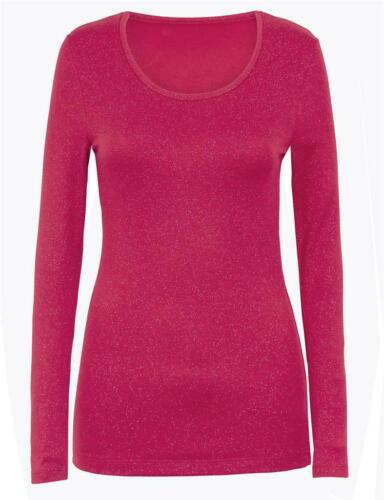faMouS store magenta sparkle heatgen  plus thermal top in sizes 6-20