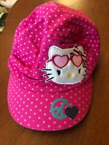 f63b35a85 Details about Sanrio U.S.A. Hello kitty Baseball Cap Kids Licensed Stretch  Hat