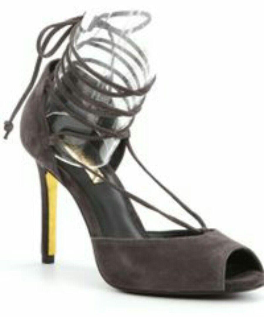 RALPH LAUREN Linden Suede Sandal Pump Charcoal Size 8 EU 39 MSRP  120